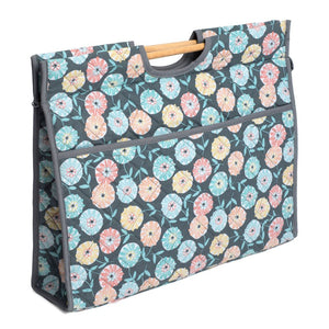 Classic Collection: Craft Bag with Wooden Handles: Imogen Floral