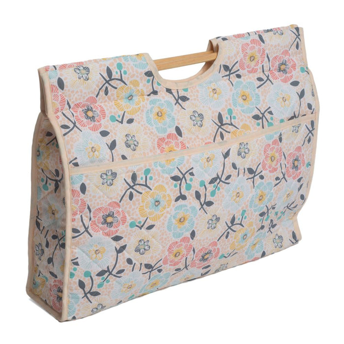 Classic Collection: Craft Bag with Wooden Handles: Lulu Floral