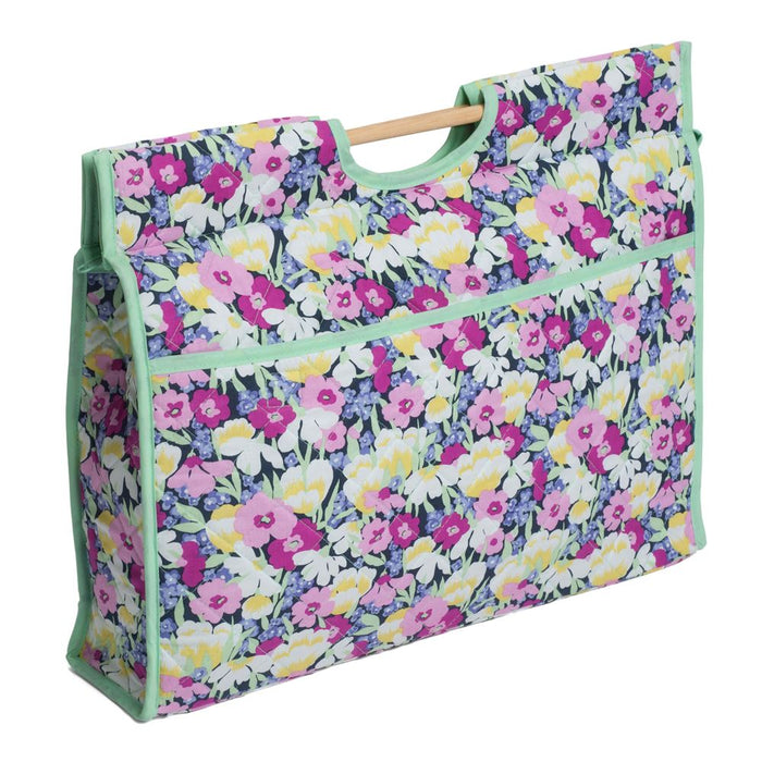 Classic Collection: Craft Bag with Wooden Handles: Wild Blossom