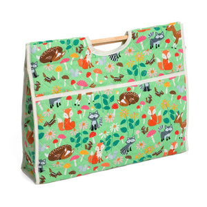 Classic Collection: Craft Bag with Wooden Handles: Woodland Spring