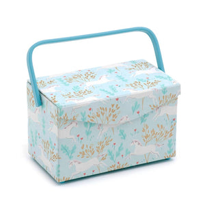 Classic Collection: Sewing Box: Fold Over Lid: Unicorn Dash