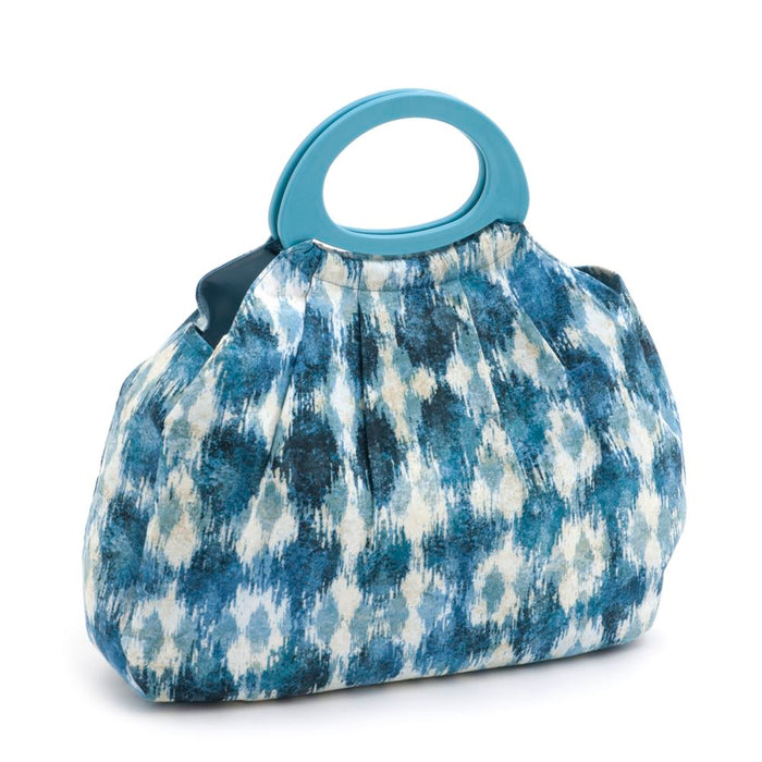 Classic Collection: Gathered Knitting Bag: Ikat