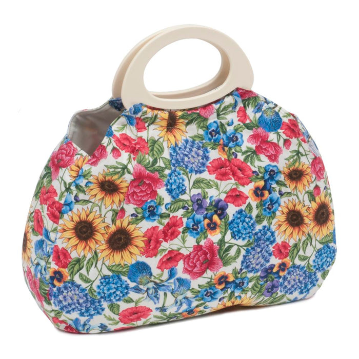 Classic Collection: Gathered Knit Bag: Garden Floral