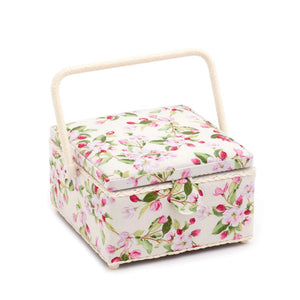 Classic Collection: Sewing Box (M): Square: Apple Blossom Festival