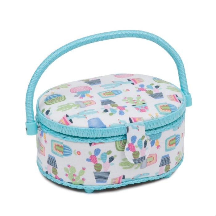 Classic Collection: Sewing Box (S): Oval: Cactus Party