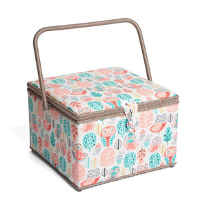 Classic Collection: Sewing Box (L): Square: Owls
