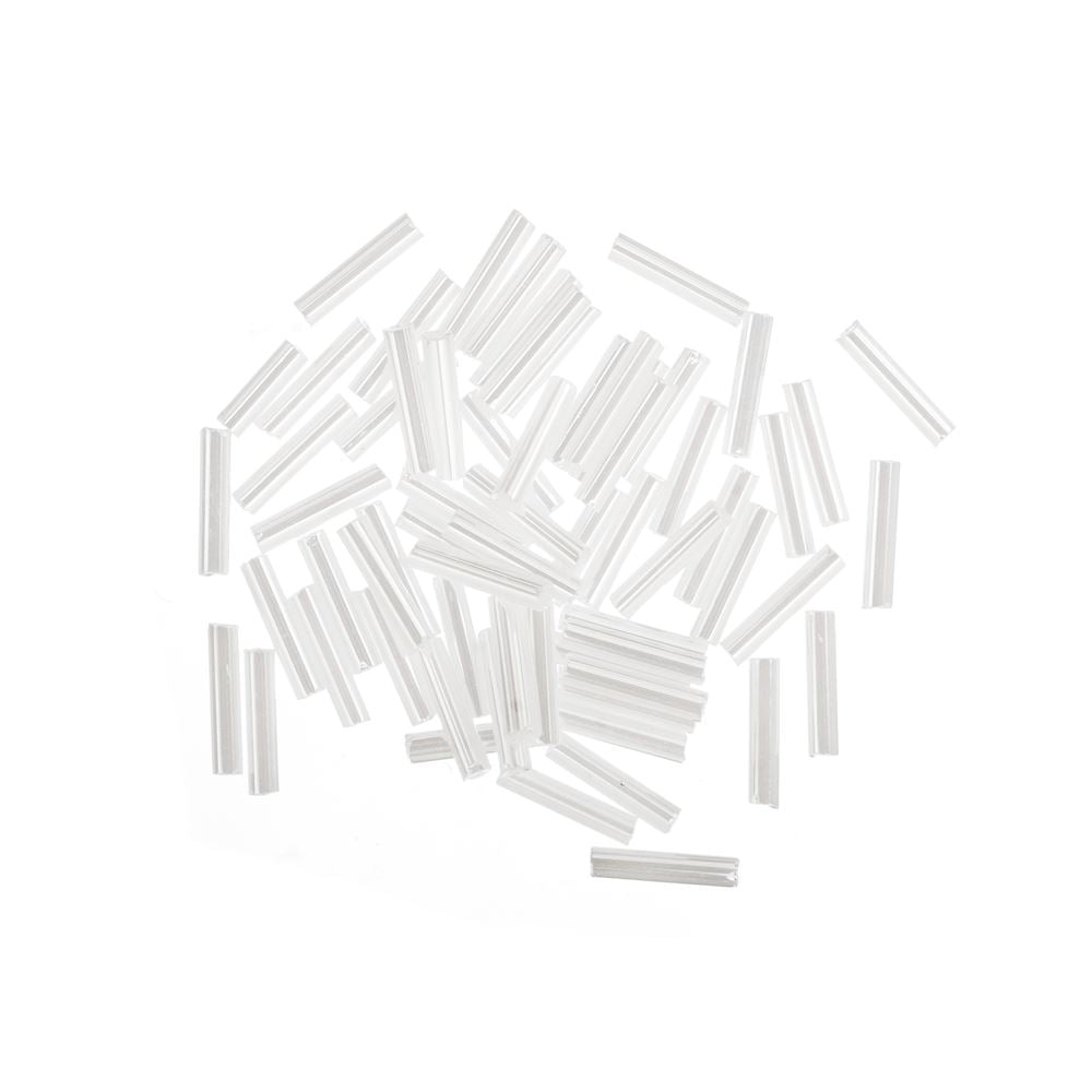 Bugle Beads: 9mm: White