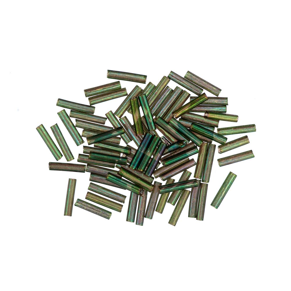 Bugle Beads: 9mm: Willow