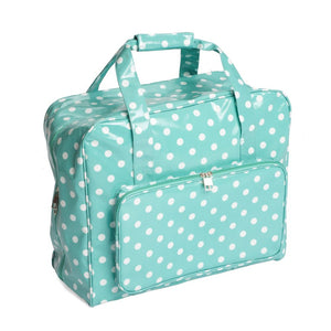 Value Collection: Sewing Machine Bag: PVC: Duck Egg Spot