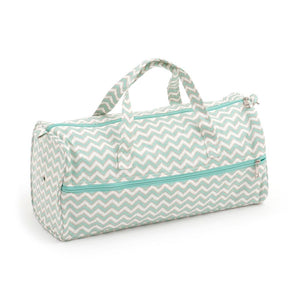 Groves Excl. Print Collection: Knitting Bag: Scribble Chevron: Mint&Gld