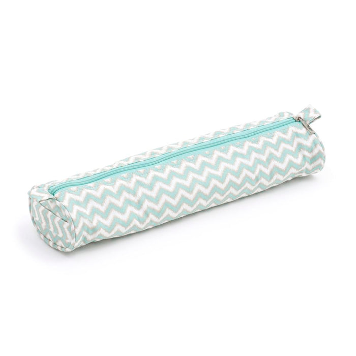 Groves Excl. Print Collection: Knitting Pin Case: Soft: Matt PVC: Scribble Chevron: Mint&Gld