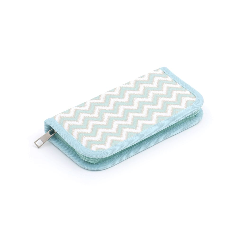 Groves Excl. Print Collection: Crochet Hook Case: Scribble Chevron: Mint&Gld