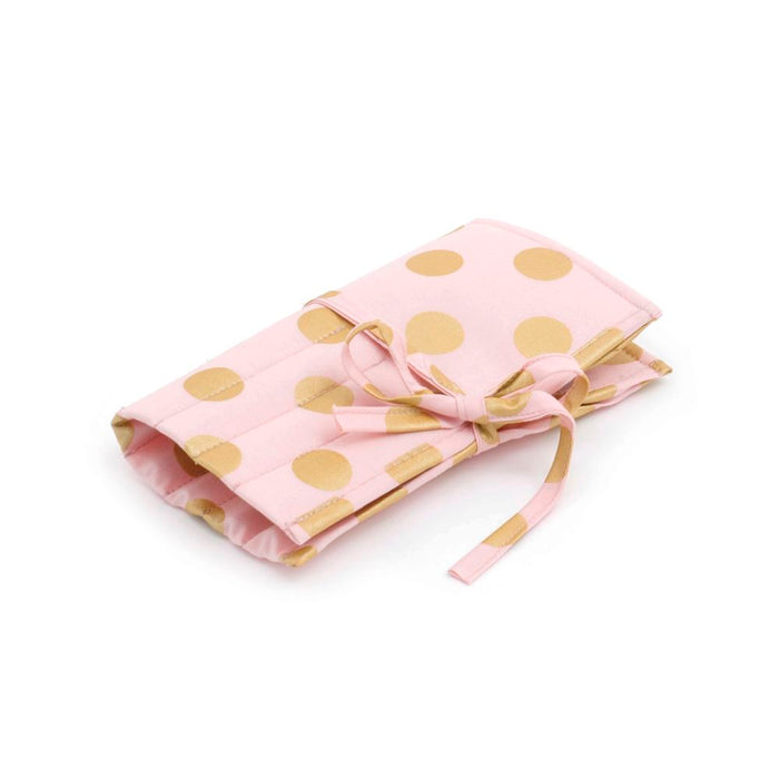 Classic Collection: Crochet Hook Roll: Filled: Blush and Gold Dot