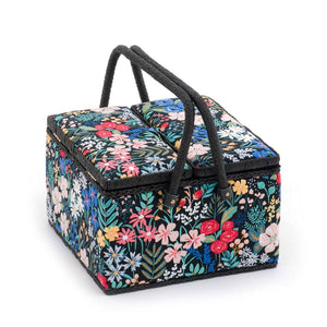 Groves Excl. Print Collection: Sewing Box (L): Twin Lid: Square: Summertime