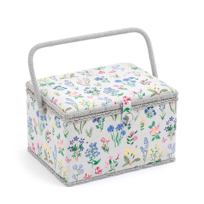 Groves Excl. Print Collection: Sewing Box (L): Rectangle: Spring Garden