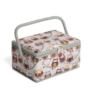 Groves Excl. Print Collection: Sewing Box (M): Rectangle: Hoot