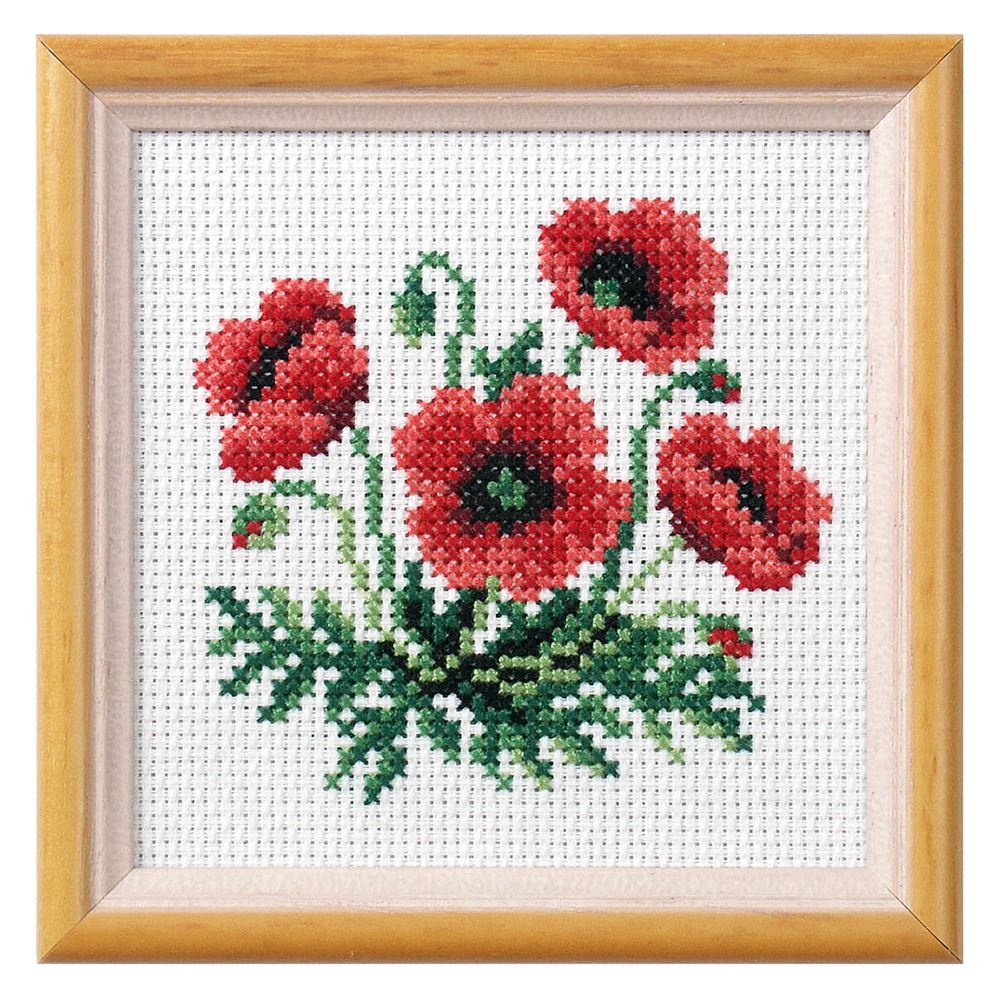 Cross Stitch: Poppy