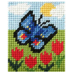 Embroidery Kit: Butterfly and Tulips