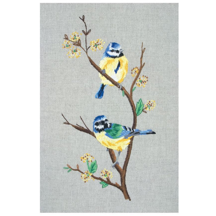 Embroidery Kit: Blue Tits