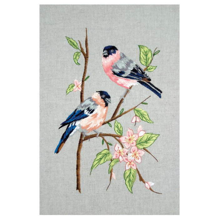 Embroidery Kit: Bullfinches