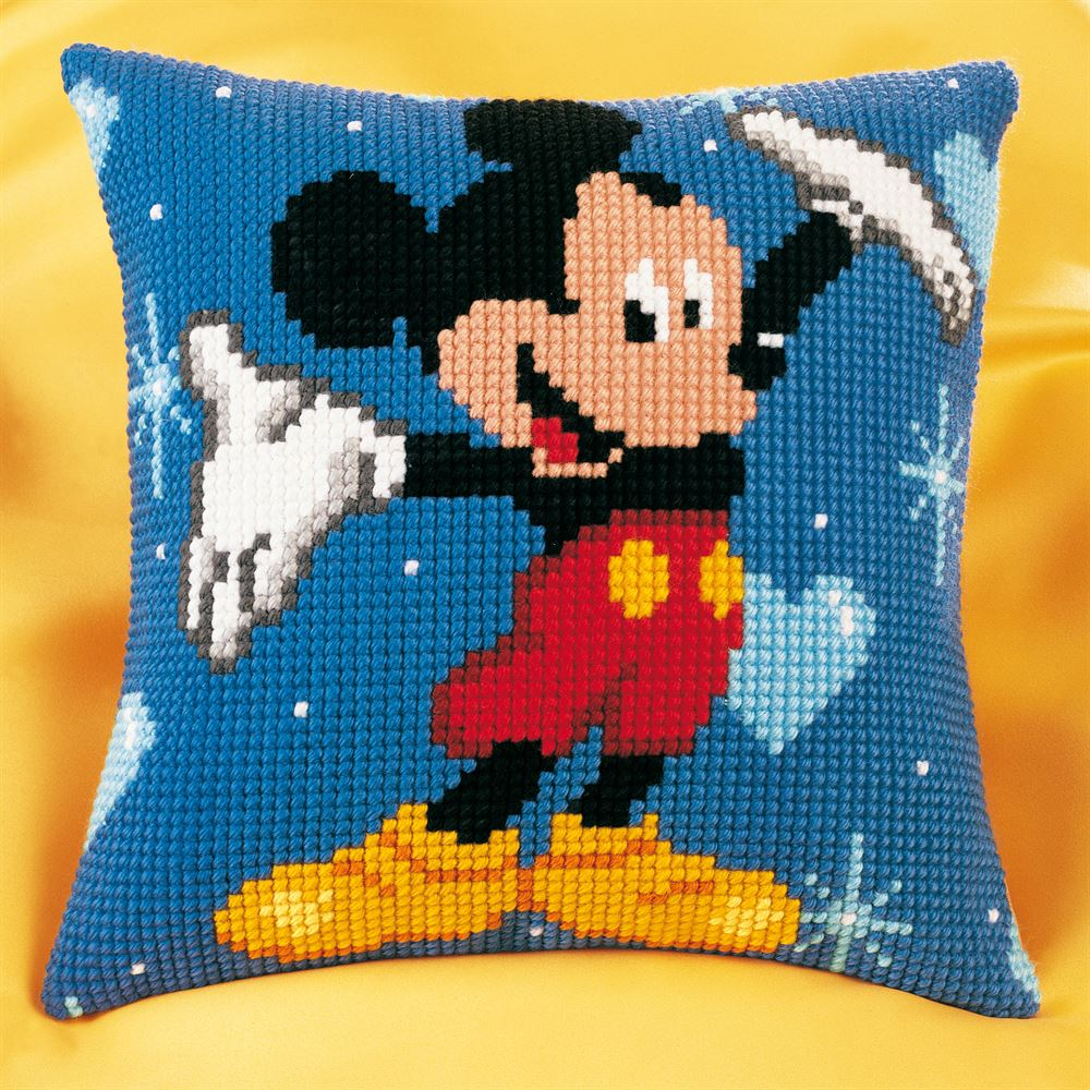 Cross Stitch Cushion Kit: Disney: Mickey Mouse