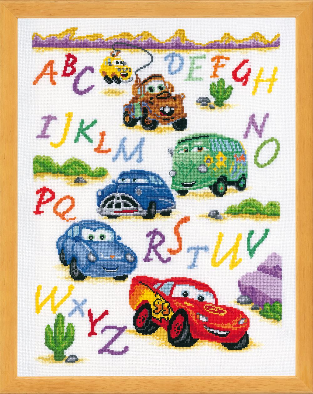 Counted Cross Stitch Kit: Disney: Cars