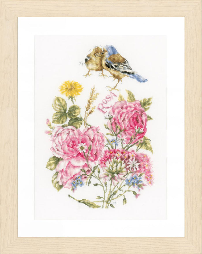 Counted Cross Stitch Kit: Finches: (Aida)