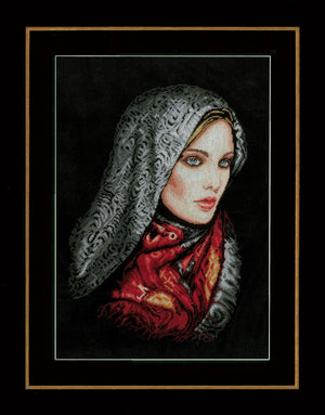Counted Cross Stitch Kit: Woman In Veil: (Aida)