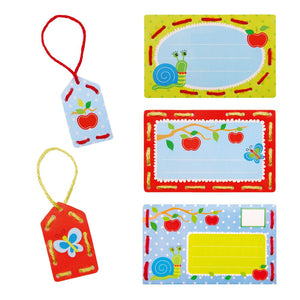 Embroidery Kit: Invite Cards: Apples: Set of 5