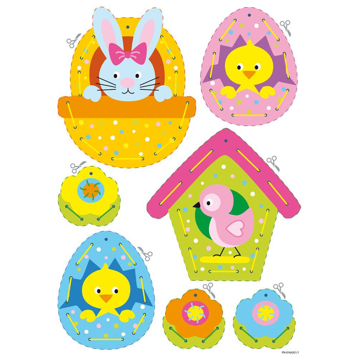 Embroidery Kit: Cards: Easter Hanging Decorations: Set of 2