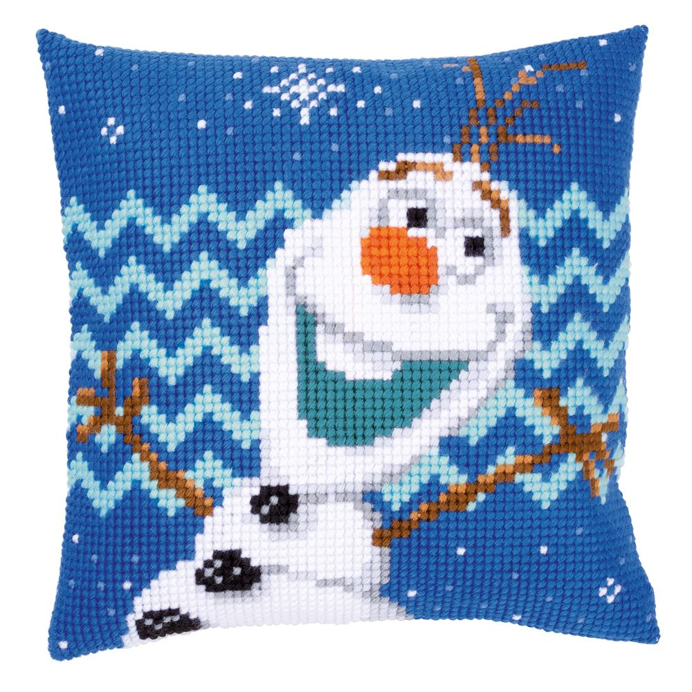 Cross Stitch Cushion Kit: Disney: Olaf