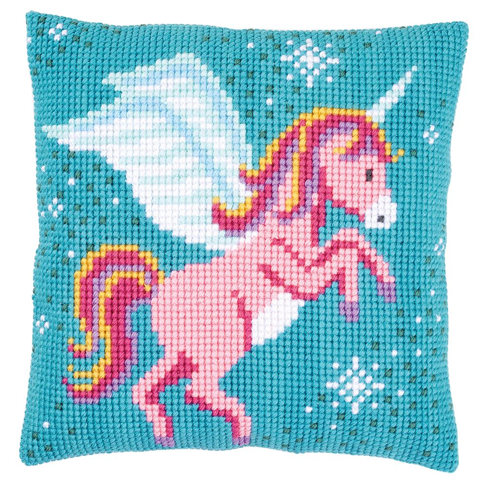 Cross Stitch Kit: Cushion: Unicorn