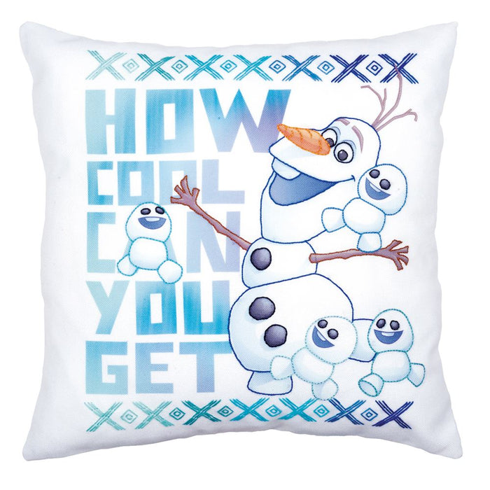 Embroidery Kit: Disney: Printed Pillow: Cover Olaf and Friends