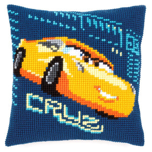 Cross Stitch Kit: Cushion: Disney: Cars - Cruz