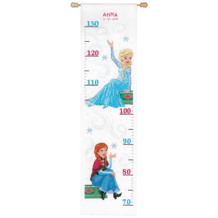 Counted Cross Stitch Kit: Height Chart: Disney: Frozen - Sisters Forever