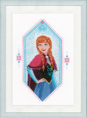 Counted Cross Stitch Kit: Disney: Frozen - Anna