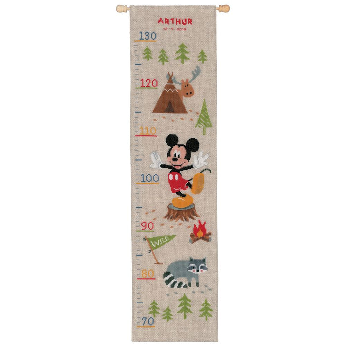 Counted Cross Stitch Kit: Disney: Height Chart: A Woodsy Adventure