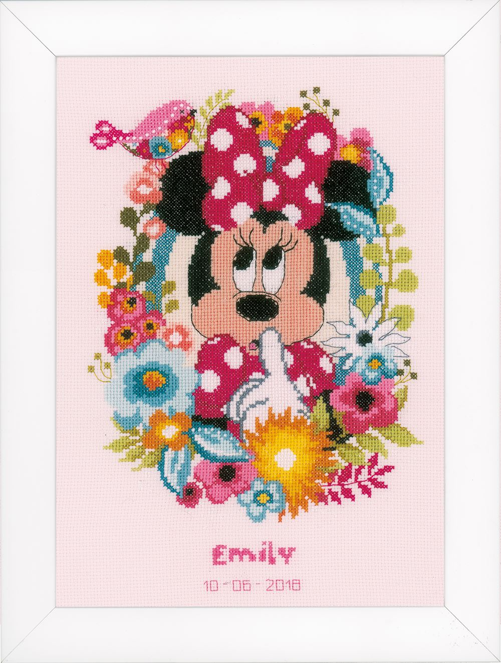 Counted Cross Stitch Kit: Disney: Minnie - Shushing