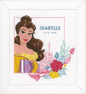 Counted Cross Stitch Kit: Birth Record: Disney: Beauty and the Beast - Enchanted Beauty