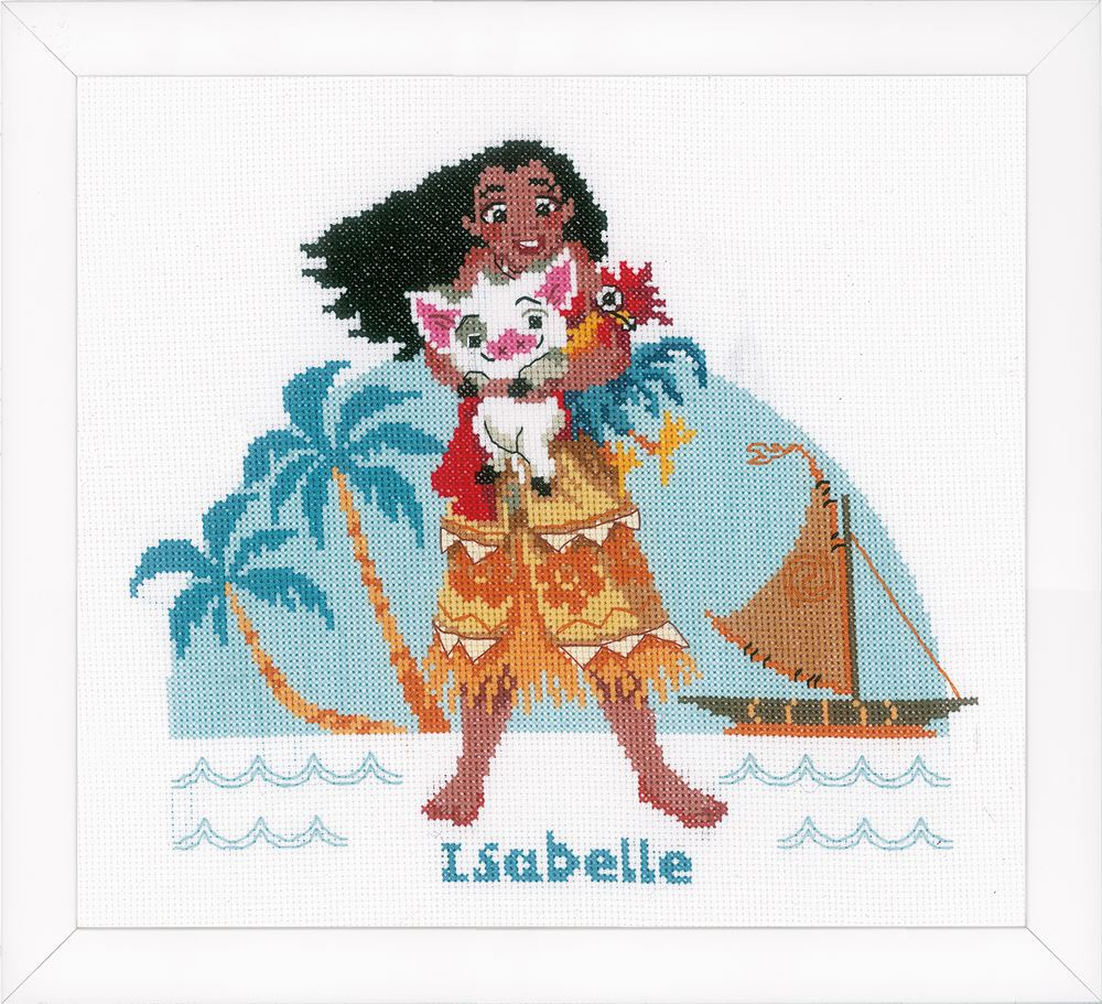 Counted Cross Stitch Kit: Disney: Moana