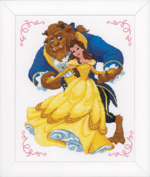 Counted Cross Stitch Kit: Disney: Beauty & The Beast