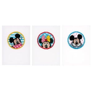 Counted Cross Stitch Kit: Cards: Disney: Minnie & Mickey: Set of 3