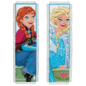 Counted Cross Stitch Kit: Bookmarks: Disney: Frozen - Sisters Forever (Set of 2)