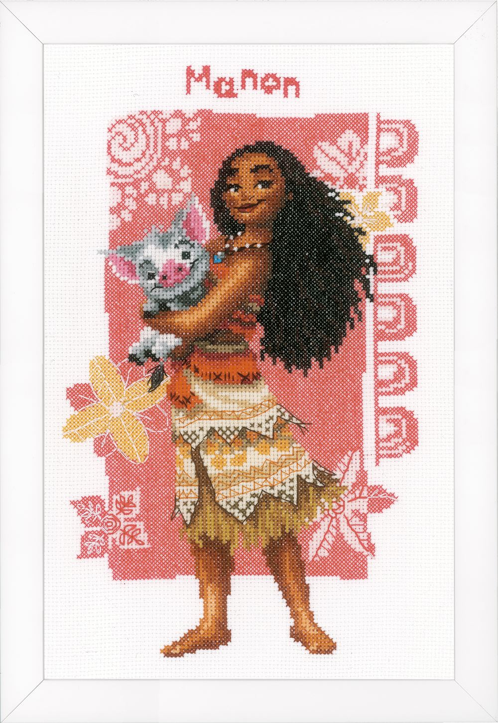 Counted Cross Stitch Kit: Disney: Moana & Pua
