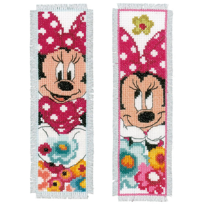 Counted Cross Stitch Kit: Bookmarks: Disney: Minnie - Daydreaming (Set of 2)