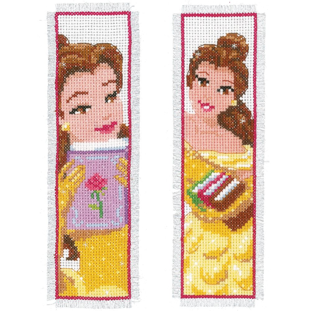 Counted Cross Stitch Kit: Bookmarks: Disney: Beauty: (Set of 2)
