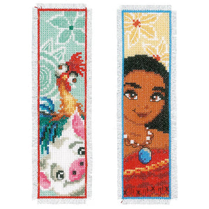 Counted Cross Stitch Kit: Bookmarks: Disney: Moana: (Set of 2)