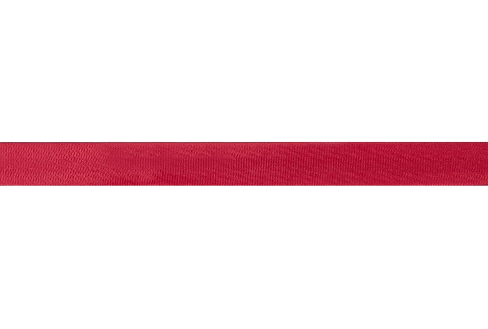 Bias Binding: Satin: 2m x 15mm: Red