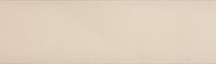 Double-Face Satin: 5m x 12mm: Cream