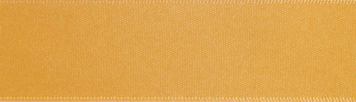 Double-Face Satin: 5m x 12mm: Old Gold